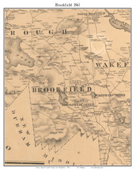 Brookfield, New Hampshire 1861 Old Town Map Custom Print - Carroll Co.