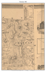 Chatham, New Hampshire 1861 Old Town Map Custom Print - Carroll Co.