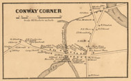 Conway Corner, New Hampshire 1861 Old Town Map Custom Print - Carroll Co.