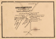 Drakesville, New Hampshire 1861 Old Town Map Custom Print - Carroll Co.