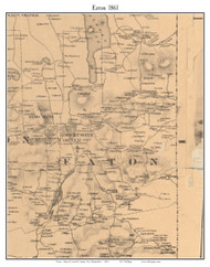 Eaton, New Hampshire 1861 Old Town Map Custom Print - Carroll Co.