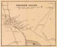 Freedom Village, New Hampshire 1861 Old Town Map Custom Print - Carroll Co.