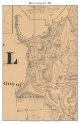 Harts Location, New Hampshire 1861 Old Town Map Custom Print - Carroll Co.