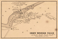 Iron Works Falls, New Hampshire 1861 Old Town Map Custom Print - Carroll Co.