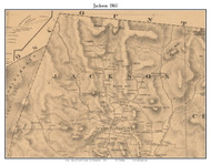 Jackson, New Hampshire 1861 Old Town Map Custom Print - Carroll Co.