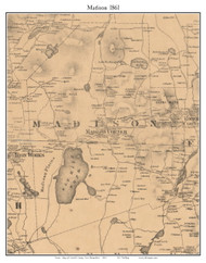 Madison, New Hampshire 1861 Old Town Map Custom Print - Carroll Co.