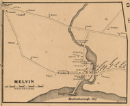 Melvin, New Hampshire 1861 Old Town Map Custom Print - Carroll Co.