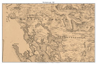 Moultonborough, New Hampshire 1861 Old Town Map Custom Print - Carroll Co.