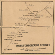 Moultonborough Corner, New Hampshire 1861 Old Town Map Custom Print - Carroll Co.