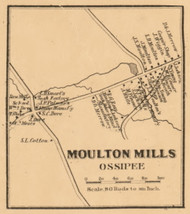 Moulton Mills, New Hampshire 1861 Old Town Map Custom Print - Carroll Co.