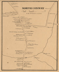North Conway, New Hampshire 1861 Old Town Map Custom Print - Carroll Co.