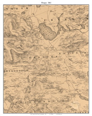 Ossipee, New Hampshire 1861 Old Town Map Custom Print - Carroll Co.