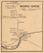 Ossipee Centre, New Hampshire 1861 Old Town Map Custom Print - Carroll Co.