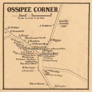 Ossipee Corner, New Hampshire 1861 Old Town Map Custom Print - Carroll Co.