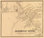 Sandwich Centre, New Hampshire 1861 Old Town Map Custom Print - Carroll Co.