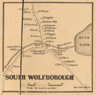 South Wolfborough, New Hampshire 1861 Old Town Map Custom Print - Carroll Co.