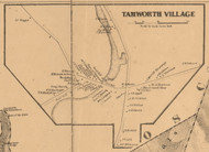 Tamworth Village, New Hampshire 1861 Old Town Map Custom Print - Carroll Co.