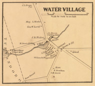 Water Village, New Hampshire 1861 Old Town Map Custom Print - Carroll Co.