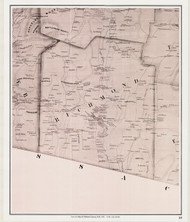 Richmond, New Hampshire 1858 Old Town Map Custom Print - Cheshire Co.