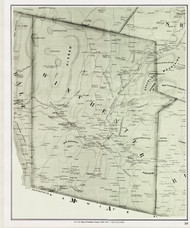 Winchester, New Hampshire 1858 Old Town Map Custom Print - Cheshire Co.