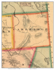 Cambridge, New Hampshire 1861 Old Town Map Custom Print - Coos Co.