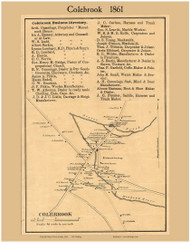 Colebrook Village, New Hampshire 1861 Old Town Map Custom Print - Coos Co.