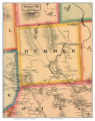 Dummer, New Hampshire 1861 Old Town Map Custom Print - Coos Co.