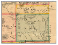 Errol and Wenworth's Location, New Hampshire 1861 Old Town Map Custom Print - Coos Co.