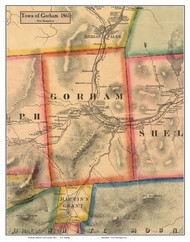 Gorham, New Hampshire 1861 Old Town Map Custom Print - Coos Co.