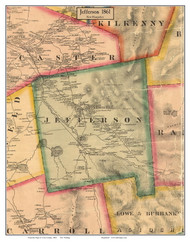 Jefferson, New Hampshire 1861 Old Town Map Custom Print - Coos Co.