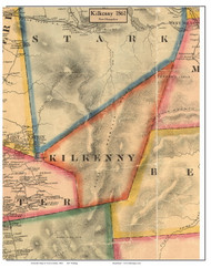 Kilkenny, New Hampshire 1861 Old Town Map Custom Print - Coos Co.