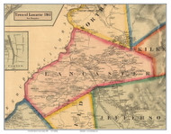 Lancaster, New Hampshire 1861 Old Town Map Custom Print - Coos Co.