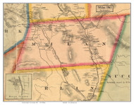 Milan, New Hampshire 1861 Old Town Map Custom Print - Coos Co.
