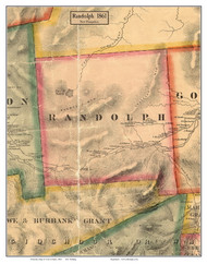 Randolph, New Hampshire 1861 Old Town Map Custom Print - Coos Co.