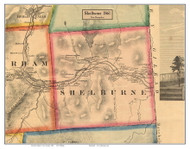 Shelburne, New Hampshire 1861 Old Town Map Custom Print - Coos Co.
