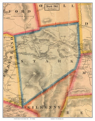 Stark, New Hampshire 1861 Old Town Map Custom Print - Coos Co.