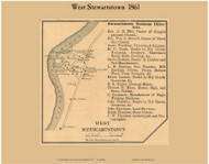 West Stewartstown Villages, New Hampshire 1861 Old Town Map Custom Print - Coos Co.