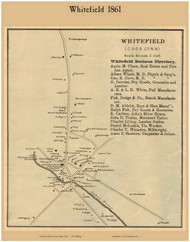 Whitefield Village, New Hampshire 1861 Old Town Map Custom Print - Coos Co.