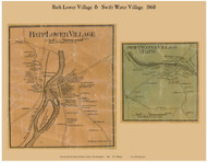 Bath Lower Village and Swift Water Village, New Hampshire 1860 Old Town Map Custom Print - Grafton Co.