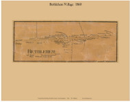 Bethlehem Village, New Hampshire 1860 Old Town Map Custom Print - Grafton Co.