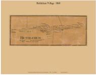 Bethlehem Village, New Hampshire 1860 Old Town Map Custom Print - Grafton Co.