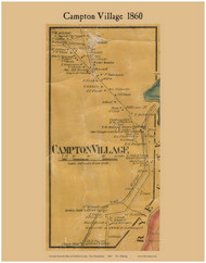 Campton Village, New Hampshire 1860 Old Town Map Custom Print - Grafton Co.