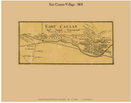 East Canaan Village, New Hampshire 1860 Old Town Map Custom Print - Grafton Co.