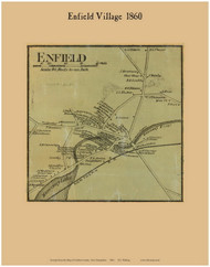 Enfield Village, New Hampshire 1860 Old Town Map Custom Print - Grafton Co.