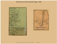 Enfield Center and East Enfield Villages, New Hampshire 1860 Old Town Map Custom Print - Grafton Co.