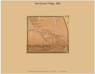 East Grafton Village, New Hampshire 1860 Old Town Map Custom Print - Grafton Co.
