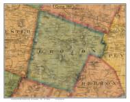 Groton, New Hampshire 1860 Old Town Map Custom Print - Grafton Co.