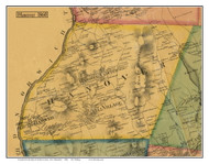 Hanover, New Hampshire 1860 Old Town Map Custom Print - Grafton Co.