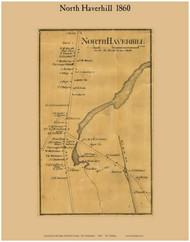 North Haverhill Village, New Hampshire 1860 Old Town Map Custom Print - Grafton Co.