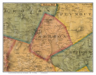 Hebron, New Hampshire 1860 Old Town Map Custom Print - Grafton Co.